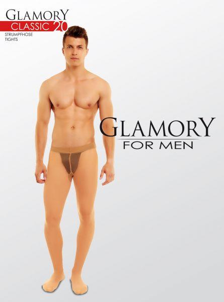 Transparent plus size strumpbyxa för män Classic 20 från Glamory