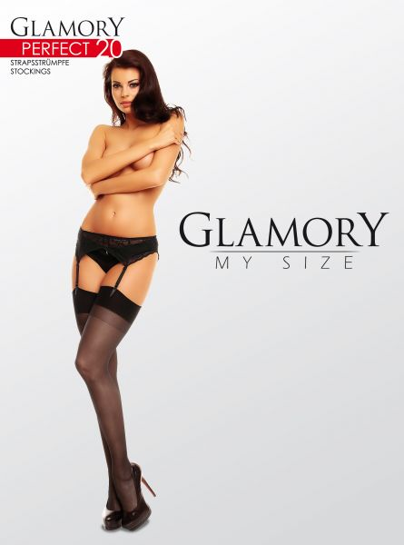 Eleganta plus size stockings Perfect 20 från Glamory