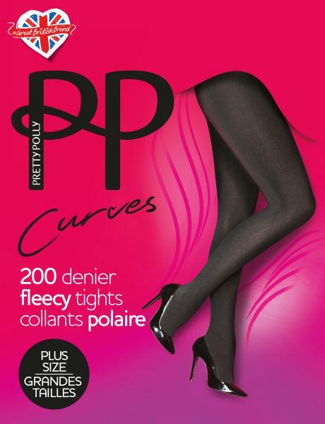 Varm Plus Size strumpbyxa med fleece Curves Fleece från Pretty Polly