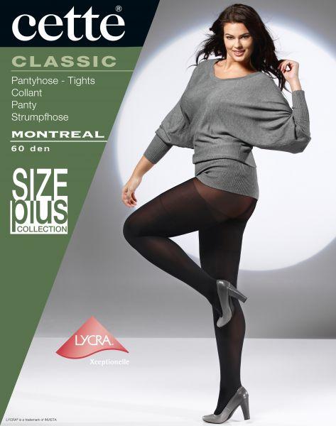 Cette Size Plus Collection - 60 denier heltäckande plus size strumpbyxa utan mönster Montreal