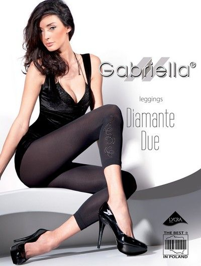 Eleganta leggings med smyckesdekoration Diamante Due fr