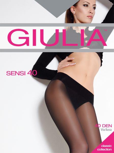 Slät strumpbyxa som slutar vid byxlinningen Sensi 40 från Giulia