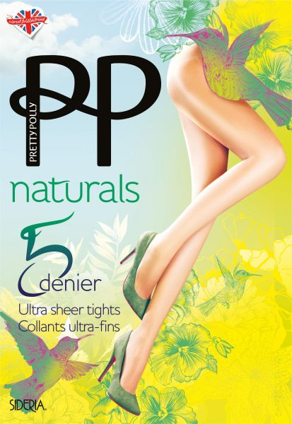 Tunn strumpbyxa utan mönster Naturals 5 denier sideria från Pretty Polly