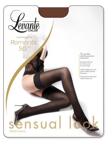 Levante Heltäckande stay-ups med dekorationsband Romantic 50