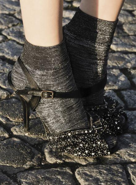 Eleganta glansiga sockor Incroyable från Gaspard Yurkievich for Gerbe