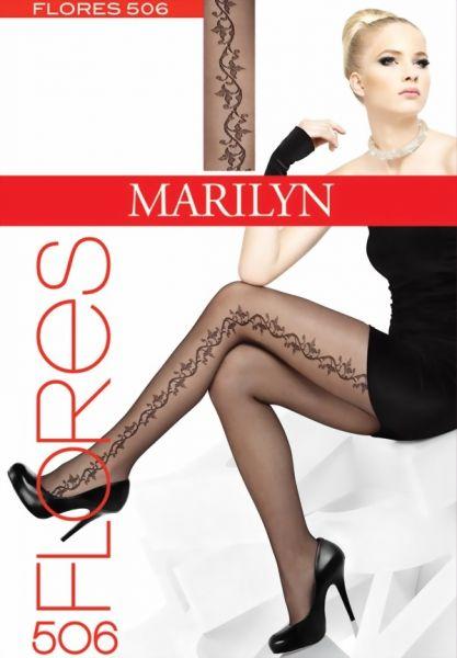 Marilyn Tunna strumpbyxor med blommigt moenster Flores, 20 DEN