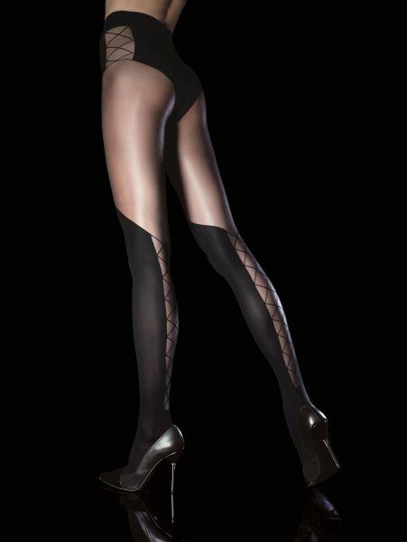 Fiore Obsession - Strumpbyxa med förföriskt mönster i overknee-look Darya