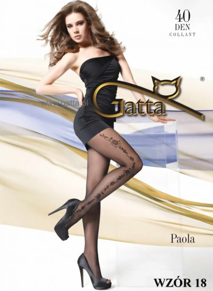 Gatta Strumpbyxor med blommigt moenster Paola 18, 40 DEN
