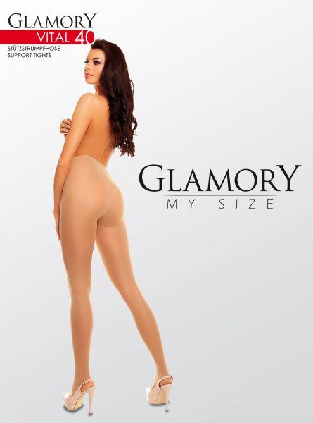 Plus size strumpbyxa med inbyggd kompression Vital 40 DEN från Glamory