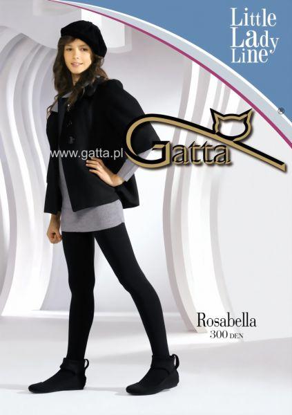 Gatta Elegant slaet strumpbyxa foer flickor Rosabella, 300 DEN