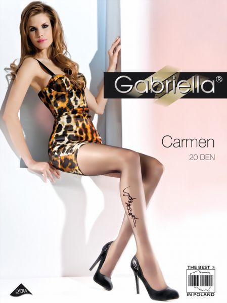 Gabriella Strumpbyxor med blommigt moenster Carmen, 20 DEN