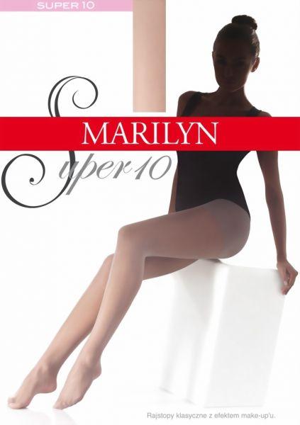 Marilyn Slaet klassisk tunn strumpbyxa Super 10