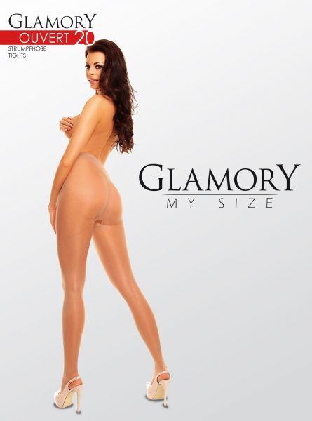 Glansig plus size strumpbyxa Ouvert från Glamory