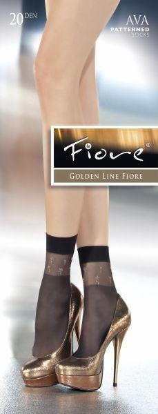 Fiore Tunna sockor med blommigt moenster Ava 20 DEN