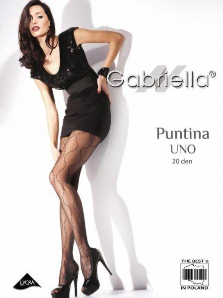 Gabriella Strumpbyxor med trendigt prickmoenster Puntina Uno 20 DEN