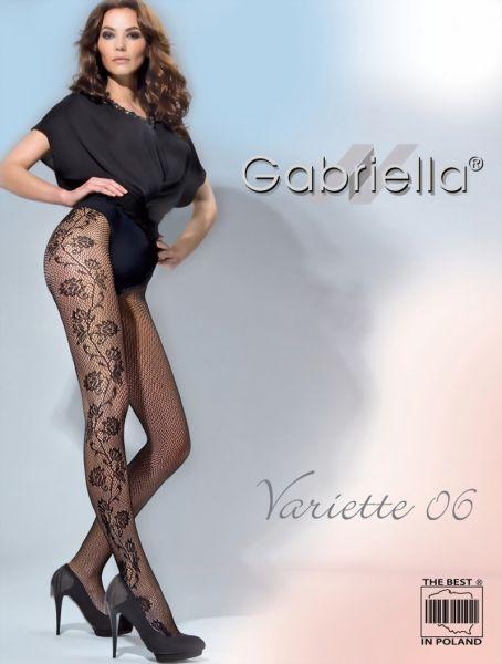 Gabriella Naetstrumpbyxor med blommigt moenster Variette