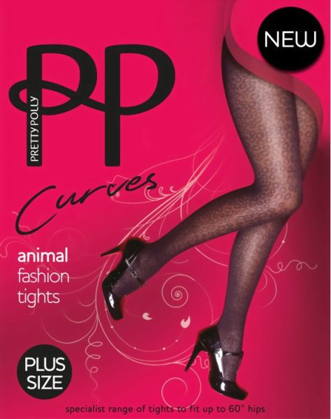 Pretty Polly Moenstrade Plus Size strumpbyxa Curves Animal Fashion