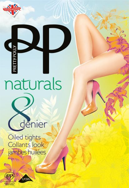 Extremt tunn strumpbyxa Naturals 8 DEN Oiled från Pretty Polly