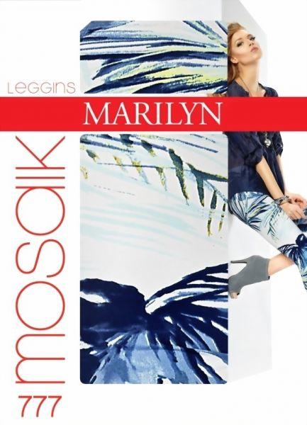 Marilyn Långa leggings med blommigt moenster Mosaik, 120 DEN
