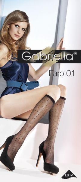 Gabriella Knaestrumpor med rutmoenster Faro 01