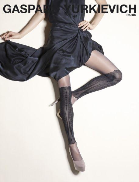 Gerbe Elegant strumpbyxa med moenster i overknee-look Precious från Gaspard Yurkievich with Gerbe