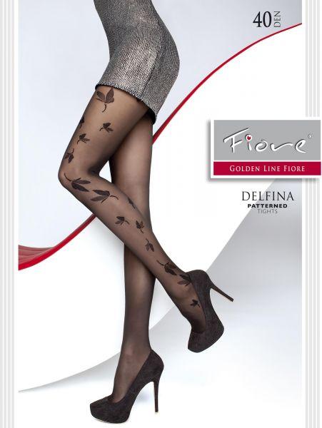 Eleganta strumpbyxor med trendigt fjärilsmönster Delfina från Fiore, 40 denier