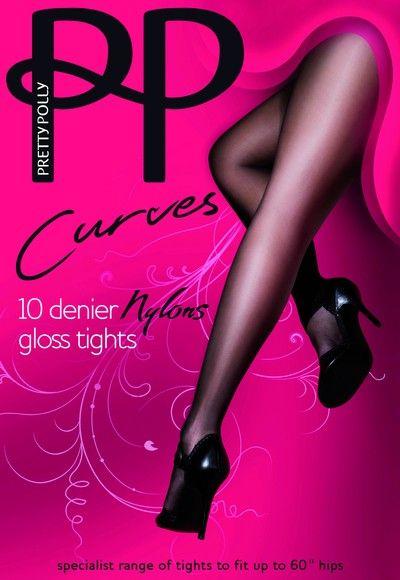 Glansig Plus Size strumpbyxa Curves Nylons 10 DEN fr