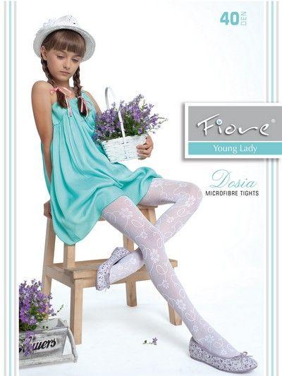 Elegant barnstrumpbyxa med blommigt m