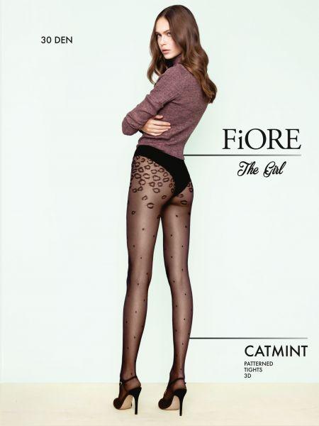 Fiore Catmint - Strumpbyxa med animal print och prickmönster