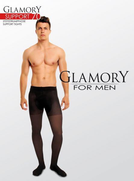 Heltäckande plus size strumpbyxa för män med inbyggd kompression Support 70 från Glamory