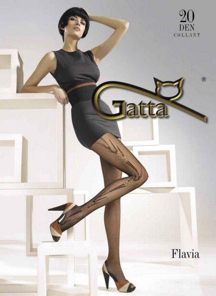 Gatta Eleganta tunna strumpbyxor med blommigt moenster Flavia 20 DEN