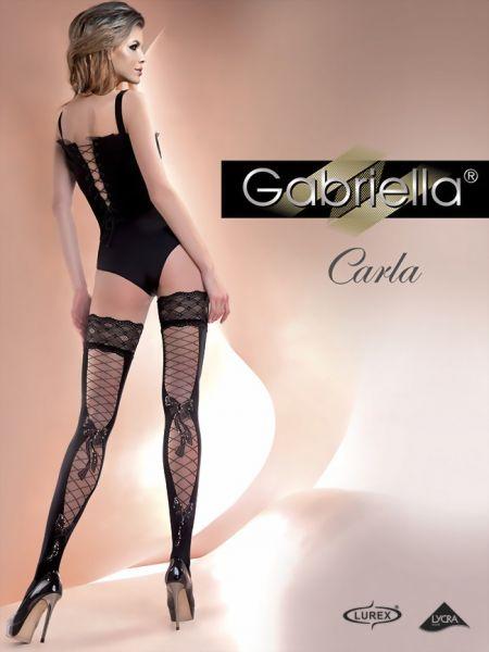 Gabriella Stay-ups med foerfoeriskt moenster Carla, 60 DEN