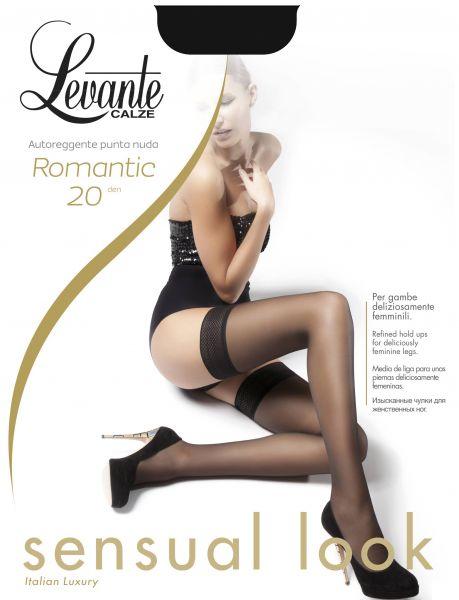Levante Klassiska stay-ups med dekorationsband Romantic 20