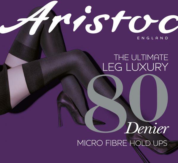 Aristoc Slät heltäckande stay ups i microfiber 80 DEN