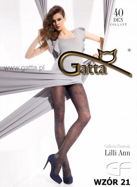 Gatta Strumpbyxor med blommigt moenster Lilli Ann 21, 40 DEN