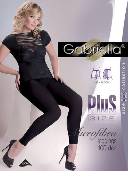 Gabriella - Slät heltäckande plus size legging Microfibra 100 den