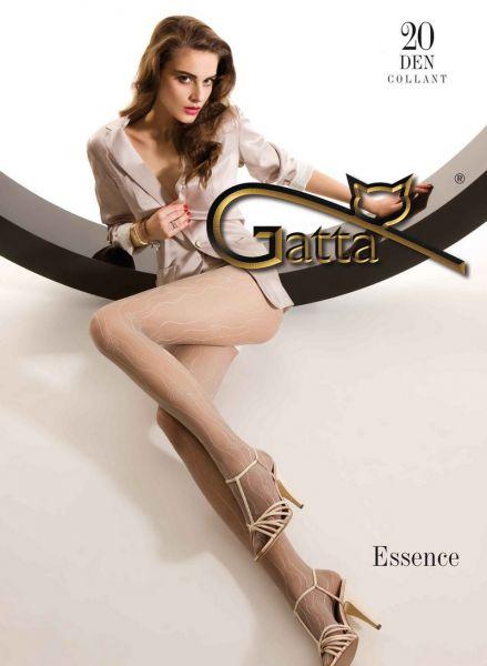 Gatta Tunna strumpbyxor med blommigt moenster Essence 20 DEN