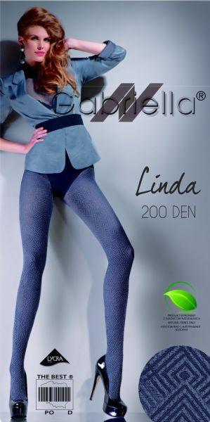 Gabriella Elegant strumpbyxa med geometriskt moenster Linda 200 DEN