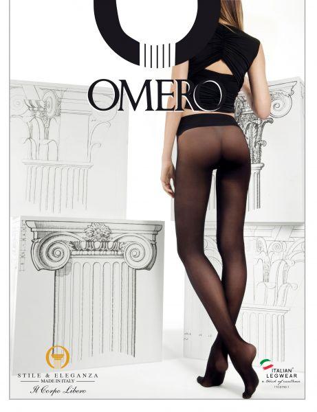 Slät sömlös strumpbyxa Divina från Omero