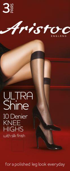 Glansiga knästrumpor Ultra Shine 10 DEN från Aristoc