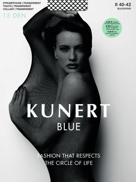 Kunert - Transparent strumpbyxa utan mönster Blue 15