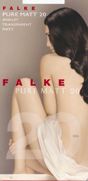 Falke Pure Matt 20 - Genomskinliga släta tunna sockor utan resår som skär in