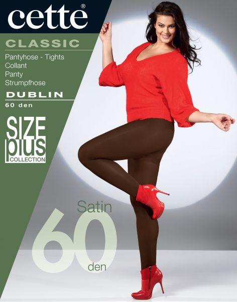Cette Size Plus Collection - Heltäckande plus size strumpbyxa utan mönster Dublin