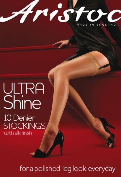 Glansiga stockings Ultra Shine 10 DEN från Aristoc