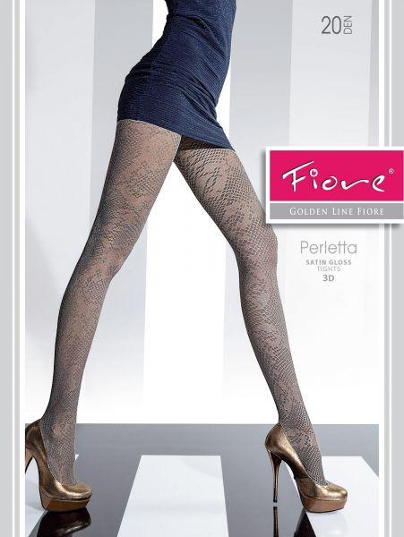 Glansig strumpbyxa med trendigt mönster Perletta från Fiore, 20 den