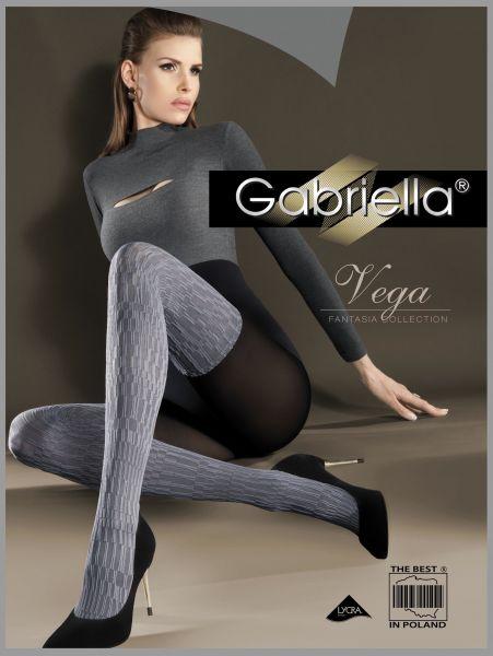Gabriella - Strumpbyxa i overknee-look med mönster Vega
