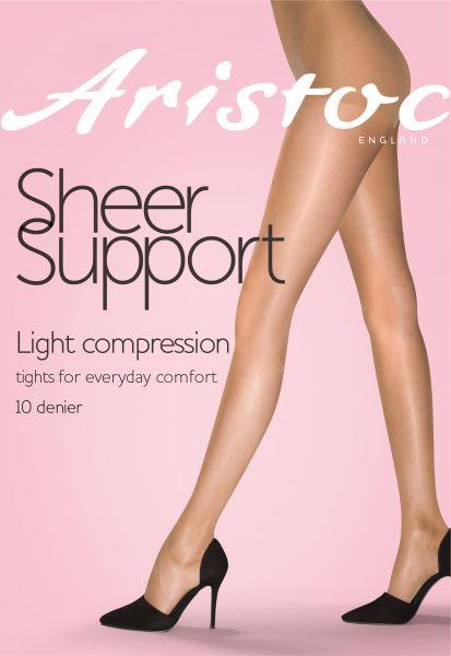 Aristoc Sheer Support - 10 denier Tunn strumpbyxa med lätt inbyggd kompression