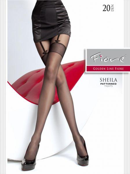 Fiore Strumpbyxor med foerfoeriskt moenster i stockings-look Sheila, 20 den
