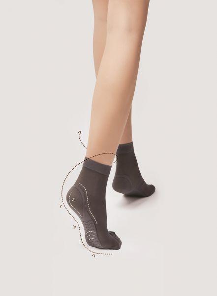 Släta sockor med massageeffekt Massage Socks 40 från Fiore