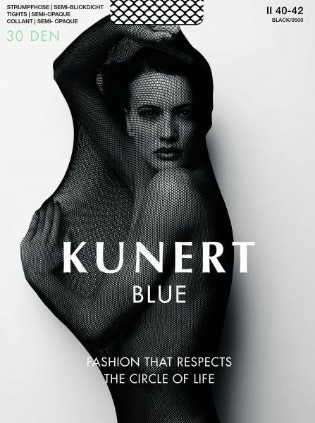 Kunert - Semi-heltäckande strumpbyxa utan mönster Blue 30